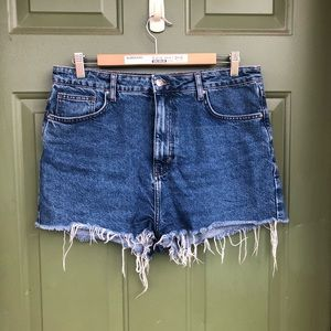 Raw Hem Mom Jean Shorts
